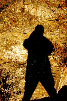 self-portrait, silhouette on rocks, north shore, 2010